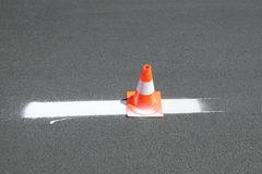Road marking Stock Photography