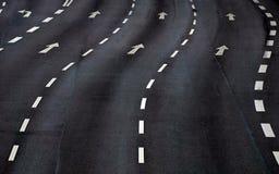 Road marking. In a street in hamburg, germany Stock Photos