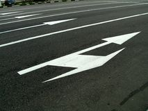 Road marking. (arrows Royalty Free Stock Image