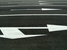 Road marking. (arrows royalty free stock photography