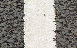 Road marking 2. Close up of white lines on a road royalty free stock image