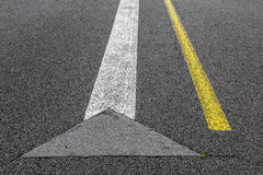 Road marking on an airstrip Stock Photo