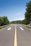 Road marking arrow Royalty Free Stock Photo