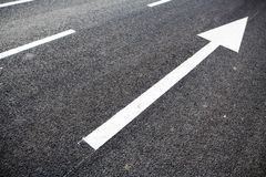 Road marking arrows Stock Image