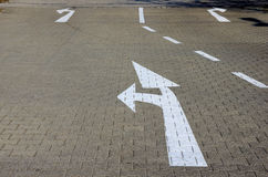 Road marking arrows Royalty Free Stock Image