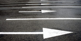 Road marking arrows Stock Images