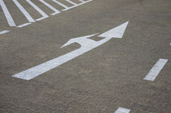 Road marking arrows Royalty Free Stock Photo