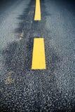Road marking change Stock Image