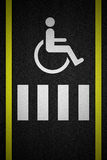 Road marking for disabled Stock Photo