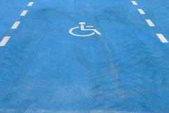 Road marking for disabled parking Royalty Free Stock Photos