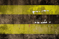 Road Marking - Double Yellow Lines Road Royalty Free Stock Image