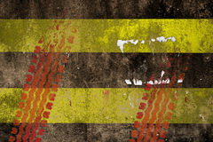 Road Marking - Double Yellow Lines Road Royalty Free Stock Photography