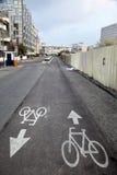Bicycle Lane In Tel-Aviv Royalty Free Stock Image
