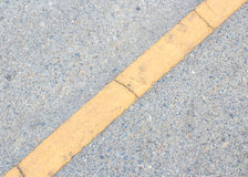 Road Marking -  yellow line on the road texture Royalty Free Stock Photo