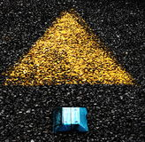 Road markings. Road signs imprinted on the ashphalt Royalty Free Stock Image