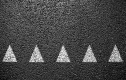 Road markings Stock Image