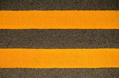 Road Markings. Traffic Image Of Double Yellow Lines On A Road Royalty Free Stock Photo