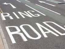 Road markings. On York Road Stock Photos