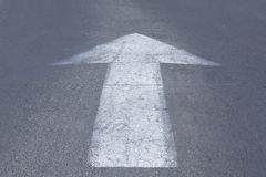 Road markings arrow Royalty Free Stock Photos
