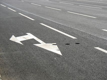 Road markings arrow Stock Image