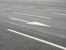 Road markings arrow Stock Photo