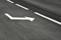 Road markings on the asphalt Stock Photography
