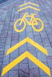 Road markings. bicycle path Stock Photography