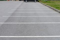 Road markings car parking Stock Images
