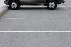 Road markings car parking Stock Photography