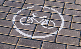 Road markings, close-up Stock Photography