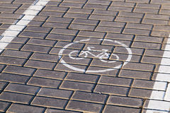 Road markings, close-up Royalty Free Stock Images
