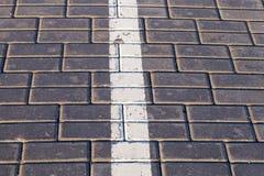 Road markings, close-up Stock Image