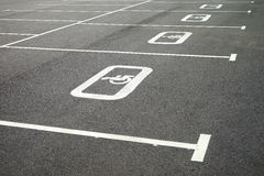 Road markings. For the disabled. Diagonal image in the parking lot Royalty Free Stock Photo