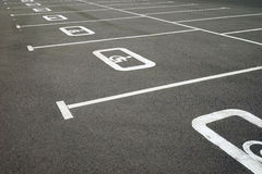 Road markings. For the disabled. Marks on the pavement Stock Photo