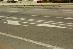 Road markings on the highway Royalty Free Stock Images