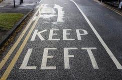 Free Road Markings Keep Left Royalty Free Stock Image - 97168716