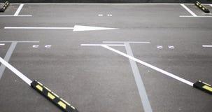 Road markings. Lines on asphalt Royalty Free Stock Images