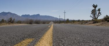 Road Markings & Nevada Landscape Stock Images