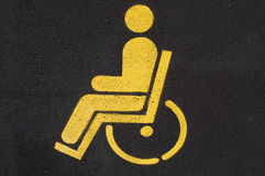Disabled people car parking. Road sign  Stock Images