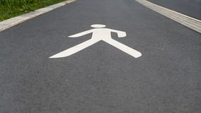 Road markings for pedestrians. In Berlin Schöneberg Stock Photo