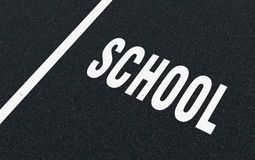 Road markings - school Stock Image