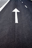 Road markings on a street Stock Images
