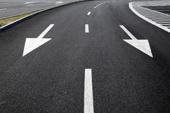 Road markings on a street Stock Photos