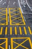 Road markings on a street in Hongkong Royalty Free Stock Image