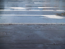 Road markings Stock Photography
