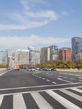 Road markings in Tokyo Stock Photo