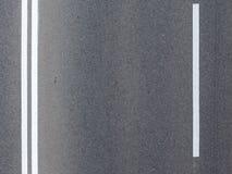 Road markings. Top view of road markings on the asphalt Royalty Free Stock Image