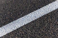 Road markings - white stripes Royalty Free Stock Photos