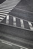 Road Marks in Airport Runway Royalty Free Stock Photo