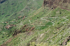 Road in Masca Canyon Tenerife Island Stock Photos